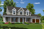 Neoclassical Home Plan Front of Home - 121D-0022 | House Plans and More
