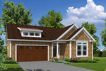 Ranch House Plan Front of Home - 121D-0023 | House Plans and More