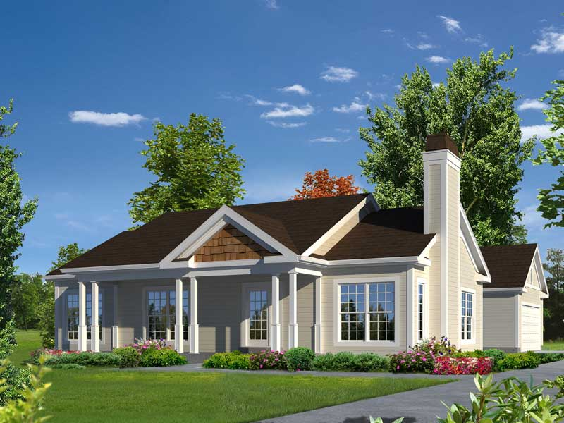 Ranch House Plan Front of Home - 121D-0025 | House Plans and More