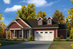 Ranch House Plan Front of Home - 121D-0027 | House Plans and More