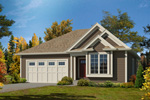 Ranch House Plan Front of Home - 121D-0029 | House Plans and More