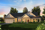 Ranch House Plan Front of Home - 121D-0030 | House Plans and More