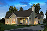 Ranch House Plan Front of Home - 121D-0031 | House Plans and More