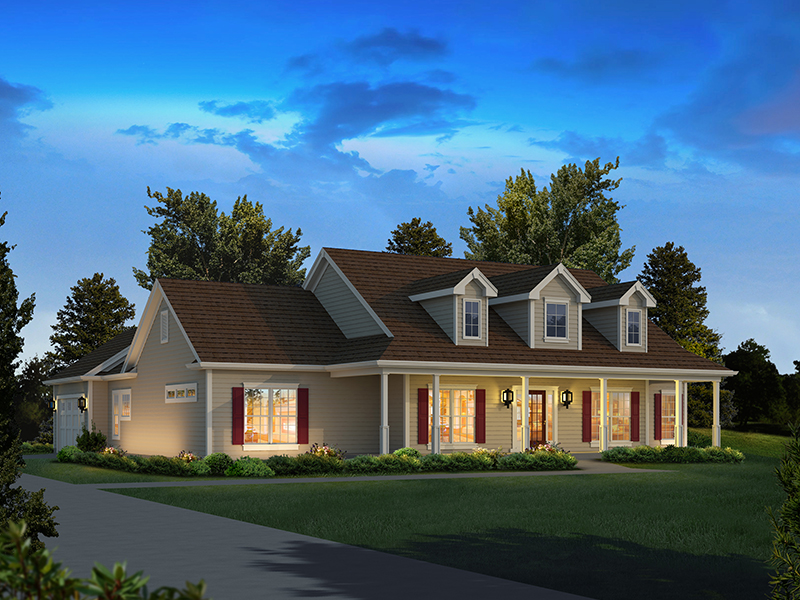 Farmhouse Plan Front of Home 121D-0032