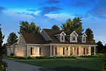 Acadian House Plan Front of Home - 121D-0032 | House Plans and More