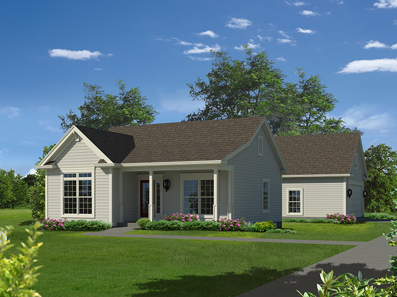 Cabin and Cottage Plan Front of Home - 121D-0033 | House Plans and More