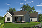 Ranch House Plan Front of Home - 121D-0033 | House Plans and More