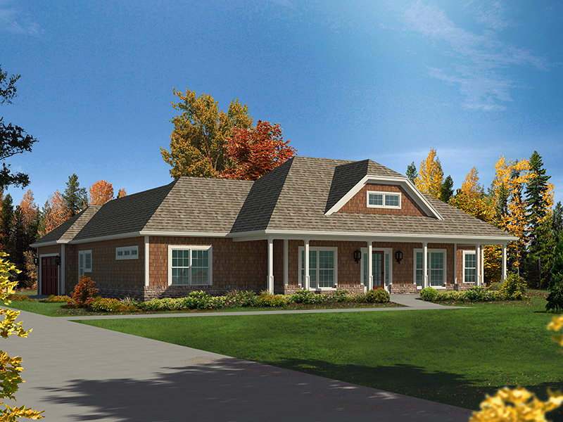 Country House Plan Front of Home - 121D-0034 | House Plans and More