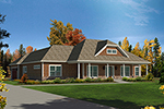 Cape Cod and New England Plan Front of Home - 121D-0034 | House Plans and More