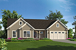 Country House Plan Front of Home - 121D-0036 | House Plans and More