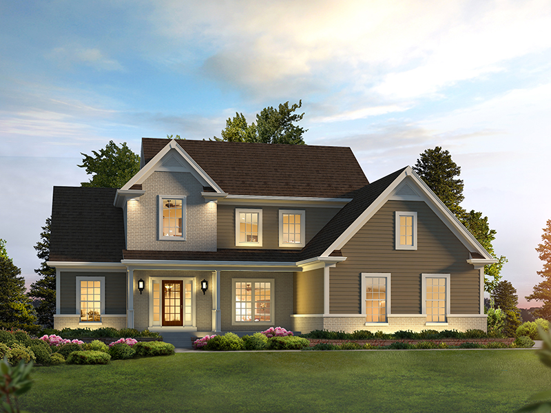 Craftsman House Plan Front of Home - 121D-0037 | House Plans and More
