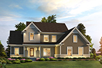 Traditional House Plan Front of Home - 121D-0037 | House Plans and More