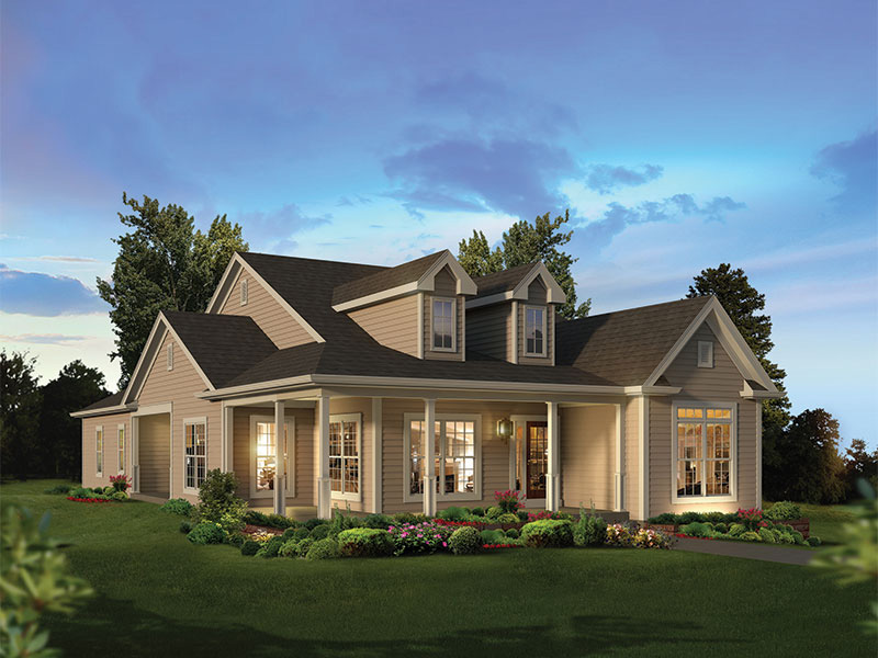 ranch house plan front of home 121d 0041 house plans and more - Country Style Ranch Home Plans