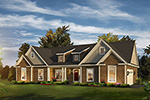 Ranch House Plan Front of Home - 121D-0043 | House Plans and More