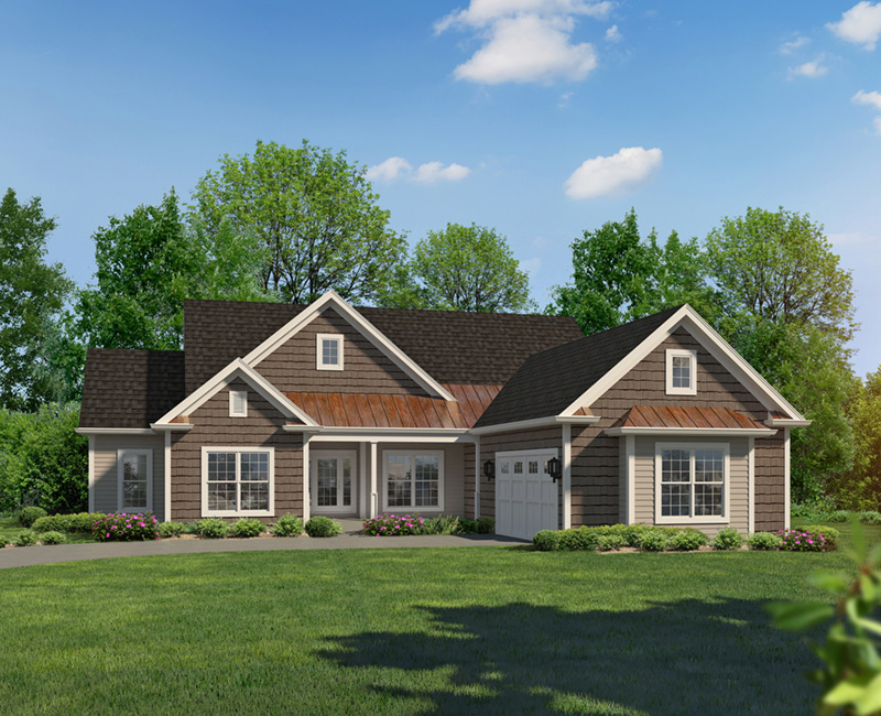 Traditional House Plan Front of Home 121D-0044