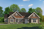 Country House Plan Front of Home - 121D-0044 | House Plans and More