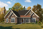 Ranch House Plan Front of Home - 121D-0045 | House Plans and More