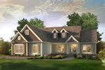 Cape Cod and New England Plan Front of Home - 121D-0046 | House Plans and More