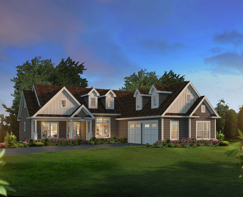 Traditional House Plan Front of Home 121D-0047