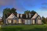 Ranch House Plan Front of Home - 121D-0047 | House Plans and More