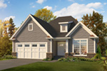 Craftsman House Plan Front of Home - 121D-0048 | House Plans and More