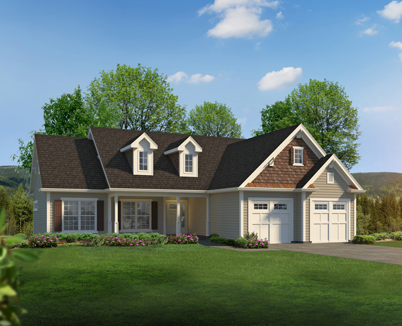 Traditional House Plan Front of Home 121D-0049