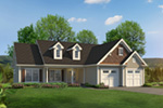 Ranch House Plan Front of Home - 121D-0049 | House Plans and More