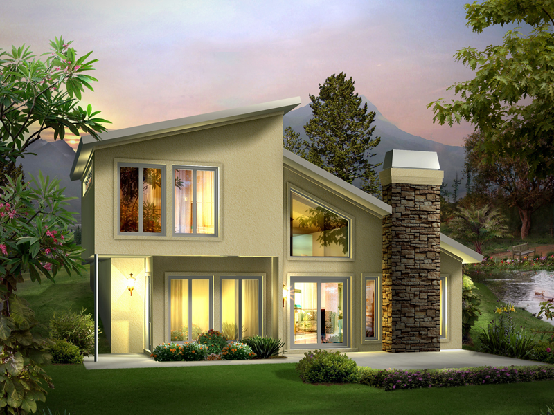 Contemporary House Plan Front of Home 122D-0001