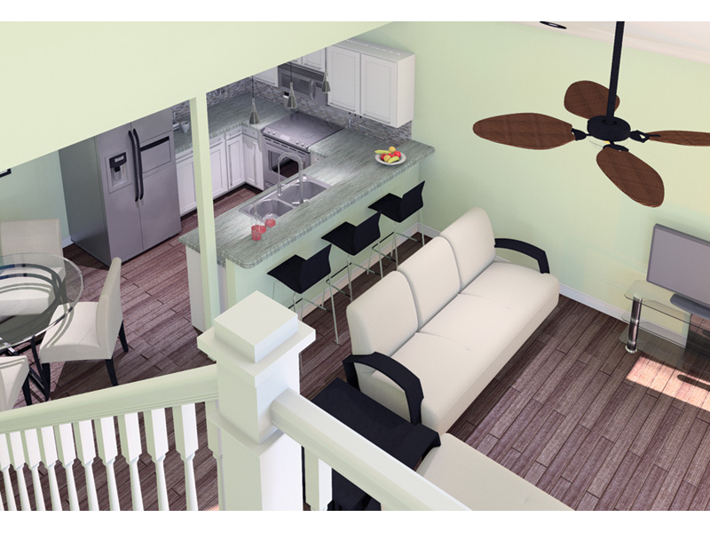 Beach & Coastal House Plan Great Room Photo 01 - 122D-0001 | House Plans and More