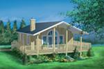 Waterfront House Plan Front of Home - 126D-0162 | House Plans and More