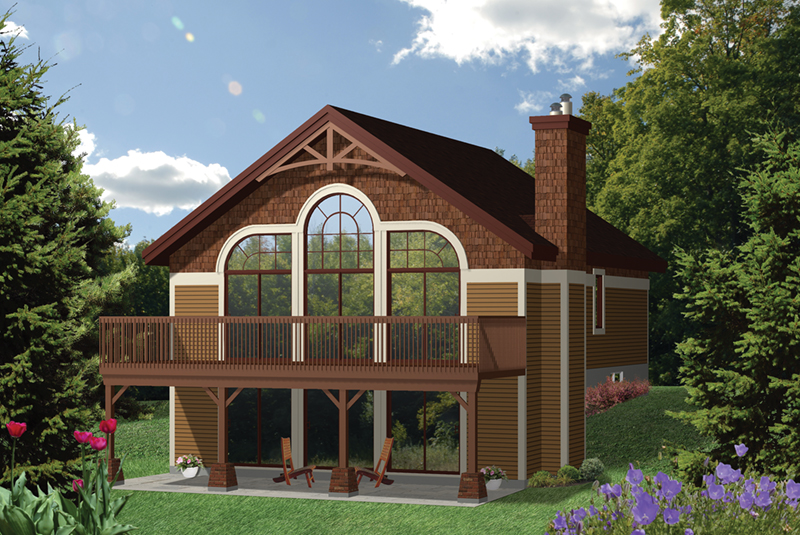 Mountain Home Plan Front of Home - 126D-0998 | House Plans and More