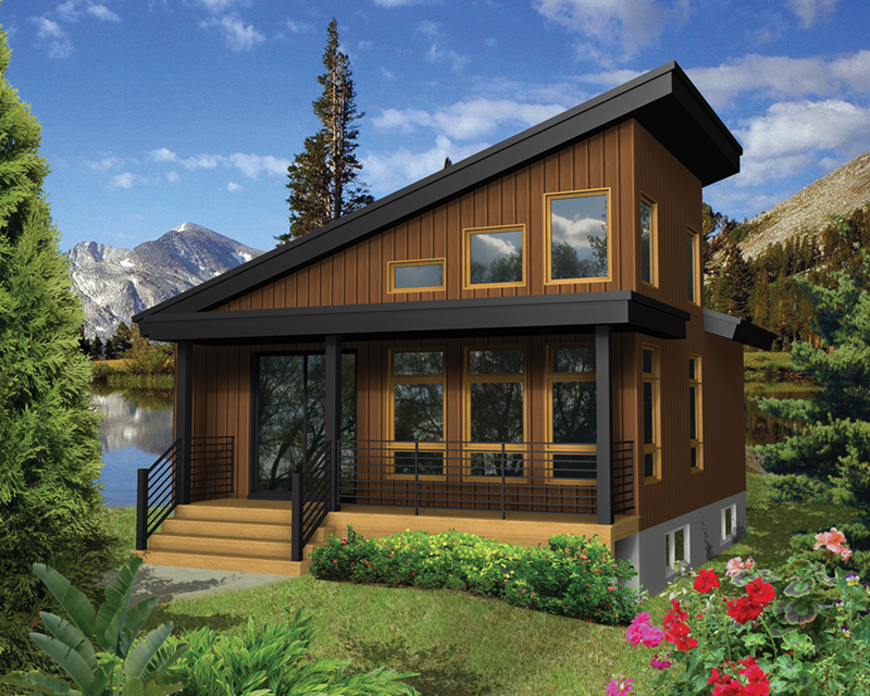 Tree top rustic modern cabin plan 126d 1003 house plans for 2000 dollar cabin