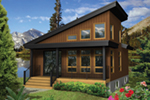 Mountain Home Plan Front of Home - 126D-1003 | House Plans and More
