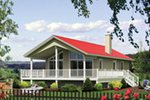 Ranch House Plan Front of Home - 126D-1019 | House Plans and More