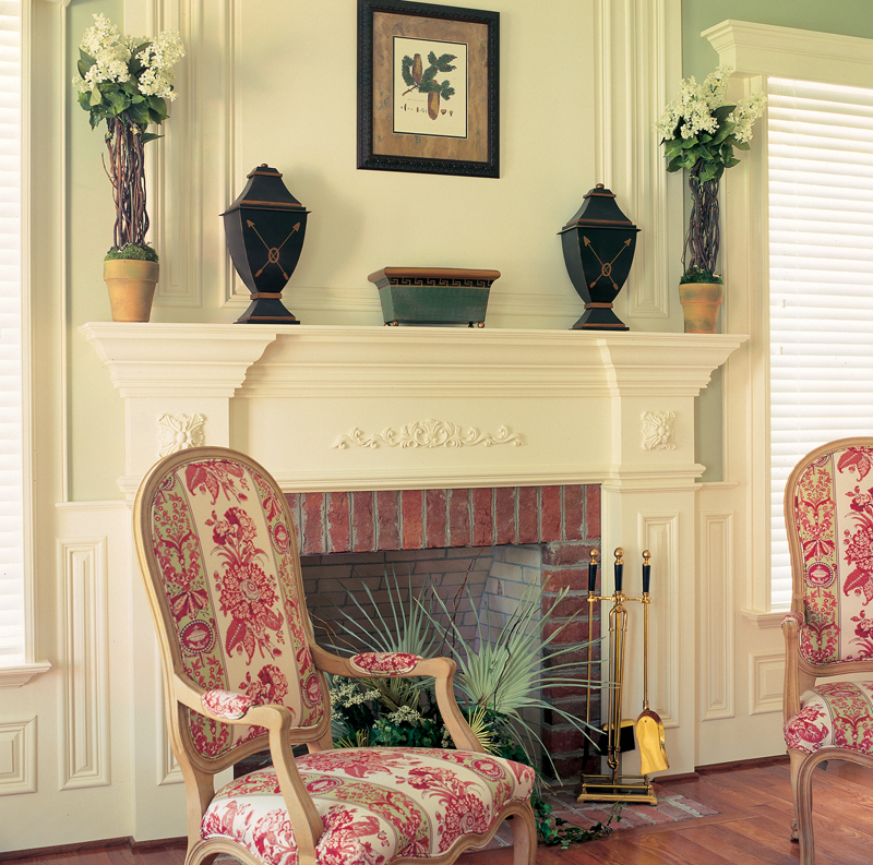 Traditional House Plan Fireplace Photo 01 128D-0001