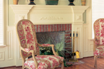 Colonial Floor Plan Fireplace Photo 01 - 128D-0001 | House Plans and More