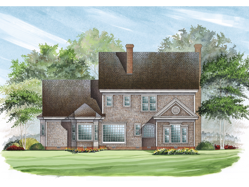 Colonial Floor Plan Color Image of House 128D-0001
