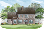Colonial Floor Plan Color Image of House - 128D-0001 | House Plans and More