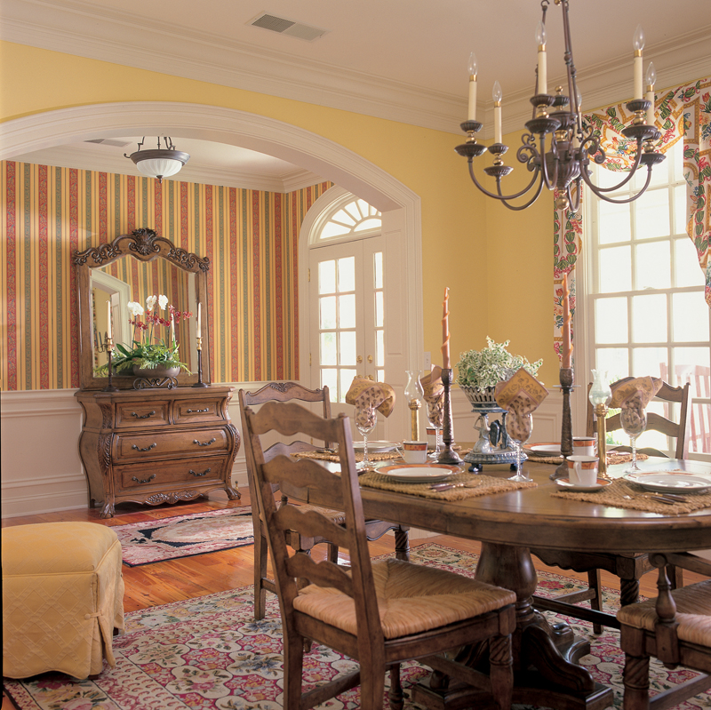 Colonial House Plan Dining Room Photo 01 128D-0002
