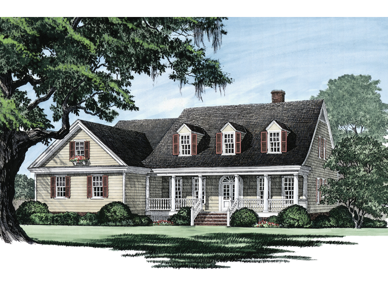 Cape Cod and New England Plan Front Image - 128D-0002 | House Plans and More