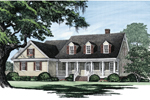 Colonial House Plan Front Image - 128D-0002 | House Plans and More