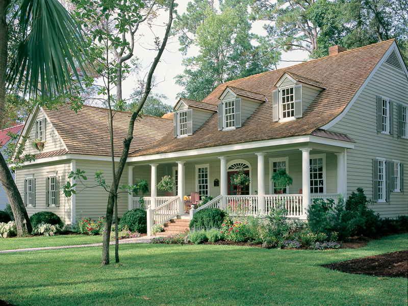 Cabin & Cottage House Plan Front of Home - 128D-0002 | House Plans and More