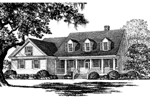 Colonial House Plan Front Image of House - 128D-0002 | House Plans and More