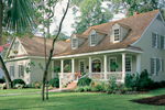 Farmhouse Plan Front of Home - 128D-0002 | House Plans and More