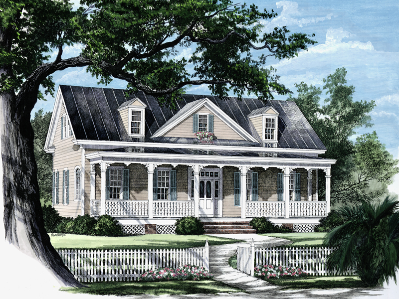 Traditional House Plan Front Image 128D-0003