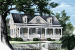 Cape Cod and New England Plan Front Image - 128D-0003 | House Plans and More