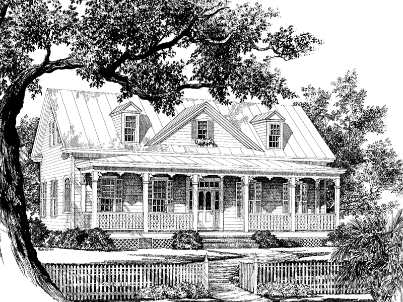 Country House Plan Front Image of House 128D-0003