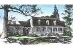Cape Cod and New England Plan Front Image - 128D-0004 | House Plans and More