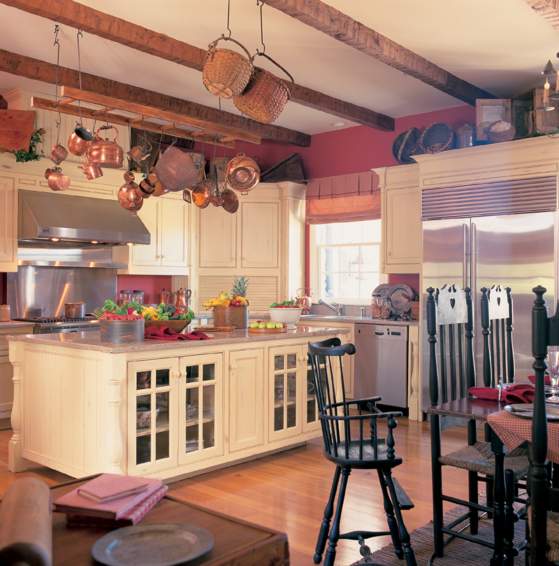 Cape Cod and New England Plan Kitchen Photo 01 128D-0004