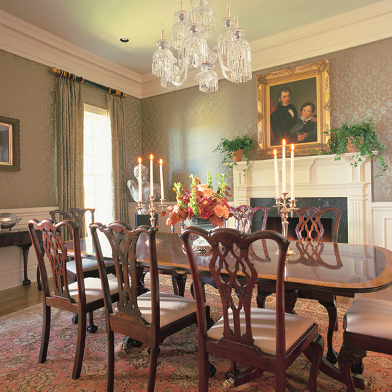 Colonial House Plan Dining Room Photo 01 128D-0005